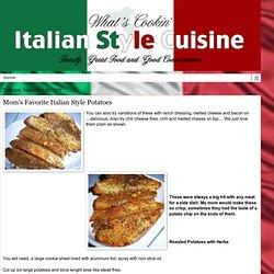 Mom's Favorite Italian Style Potatoes