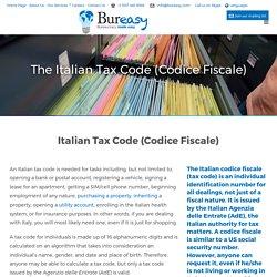 Italian Fiscal Code, Codice Fiscale, Italian Tax Code