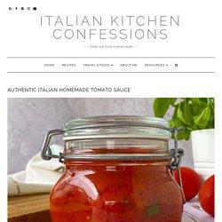 Authentic Italian pasta sauce recipe tomato