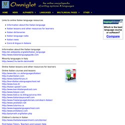 Links to online Italian language resources