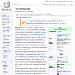 Italian language - Wikipedia