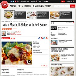 Italian Meatball Sliders with Red Sauce Recipe : Guy Fieri