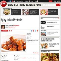 Spicy Italian Meatballs Recipe : Ree Drummond