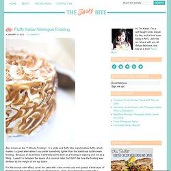 Fluffy Italian Meringue Frosting