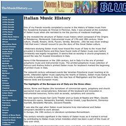 Italian Music History