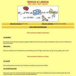 lingua italiana per bambini delle scuole elementari