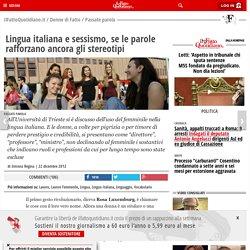 Lingua italiana e sessismo, se le parole rafforzano ancora gli stereotipi
