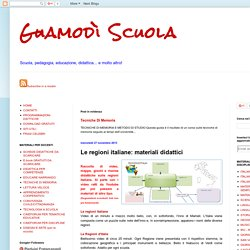 Le regioni italiane: materiali didattici