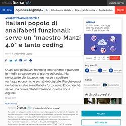 """Italiani popolo di analfabeti funzionali: serve un """"maestro Manzi 4.0"""" e tanto coding"""