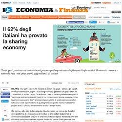 Il 62% degli italiani ha provato la sharing economy