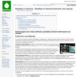 in italiano - RepRap in Italian/Costruire una reprap