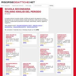 Italiano analisi del periodo 52 schede ed esercizi per la scuola secondaria