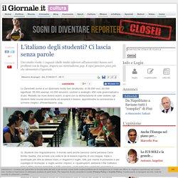 L'italiano degli studenti? Ci lascia senza parole