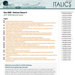ITALICS - Volume 5 Issue 4