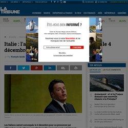 Italie : l'avenir de Matteo Renzi se jouera le 4 décembre