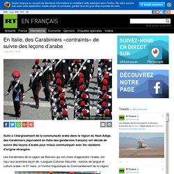 En Italie, des Carabiniers «contraints» de suivre des leçons d'arabe