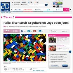 Italie: Il construit sa guitare en Lego et en joue !