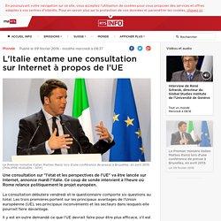 L'Italie entame une consultation sur Internet à propos de l'UE - rts.ch - Monde