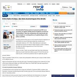 Entre Italie et Libye, des liens économiques très étroits