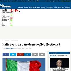 Italie : va-t-on vers de nouvelles élections ?