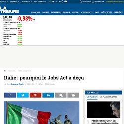 Italie : pourquoi le Jobs Act a déçu