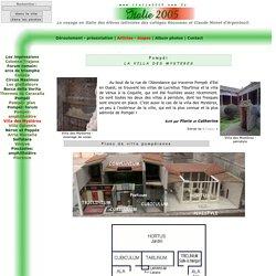 Pompéi: La Villa des Mystères
