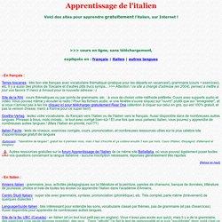 ITALIEN : cours gratuits sur le net