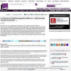 La France et l'extrême-gauche italienne : archives des années de plomb - Littérature