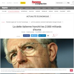 La dette italienne franchit les 2.000 milliards d'euros
