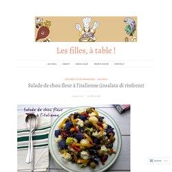 Salade de chou fleur à l'italienne (insalata di rinforzo) – Les filles, à table !