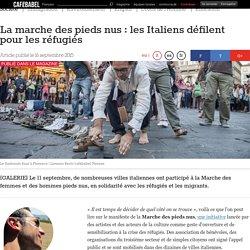 La marche des pieds nus : les Italiens défilent pour les réfugiés