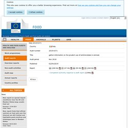 DG SANCO 18/04/19 Rapport OAV : Italy 2018-6371 gather information on the prudent use of antimicrobials in animals Nov 2018 Report details
