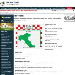 Italy Facts, Facts about Italy