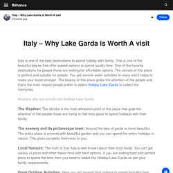Italy – Why Lake Garda is Worth A visit
