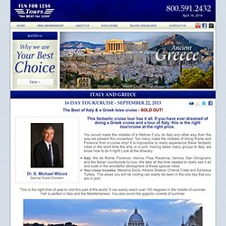 Italy and Greece Cruise and Tour