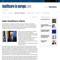 Italy's healthcare reform on healthcare in europe