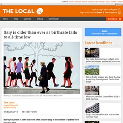 Italy is older than ever as birthrate falls to all-time low