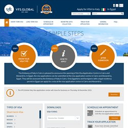 Italy Visa Information - Egypt - Home Page