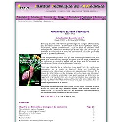 ITAVI - 2007 - MEMENTO DE L'ELEVEUR D'ESCARGOTS