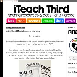iTeach Third: Using Social Media to Assess Learning