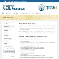 iTeachU – Content Curation Tools
