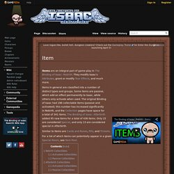 Item - Binding of Isaac: Rebirth Wiki