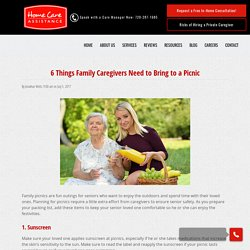 6 Items Family Caregivers Need for a Picnic
