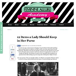 12 Items a Lady Should Keep in Her Purse- MotorCity Moxie