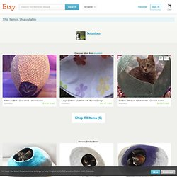J Wilks Reserved Listing CatBall 2 Large by bountom on Etsy