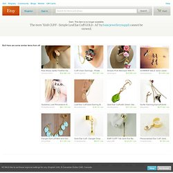 EAR CUFF Simple Leaf Ear Cuff GOLD A1 by basicjewellerysuppli