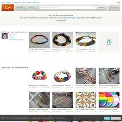 Rainbow Czech Bead Bracelet par NewPrideDesigns