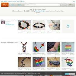 Rainbow Clock LGBT Gift by NewPrideDesigns