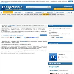 "ITespresso TV : J. De Labriffe (IAB) : ""La pub traditionnelle n'"