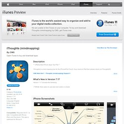 iThoughts (mindmapping) for iPhone, iPod touch, and iPad on the